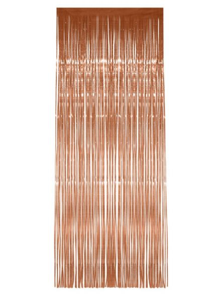 Rose Gold Shimmer Door Curtain